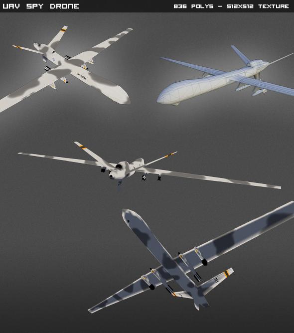 3DOcean Predator UAV Lowpoly 4595928