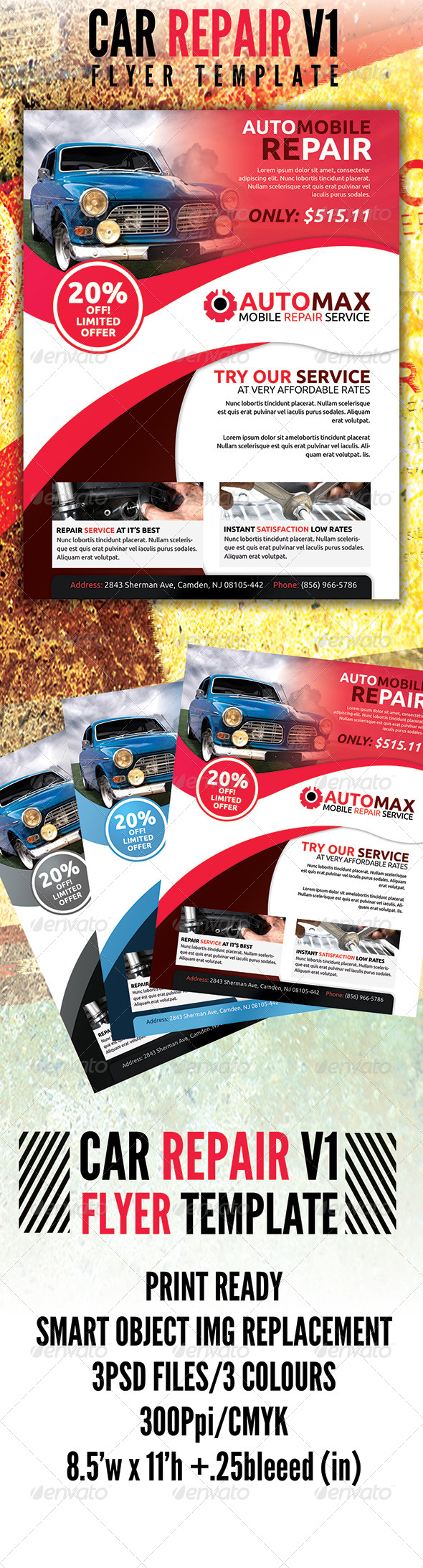 GraphicRiver Automobile Flyer v1 4600422