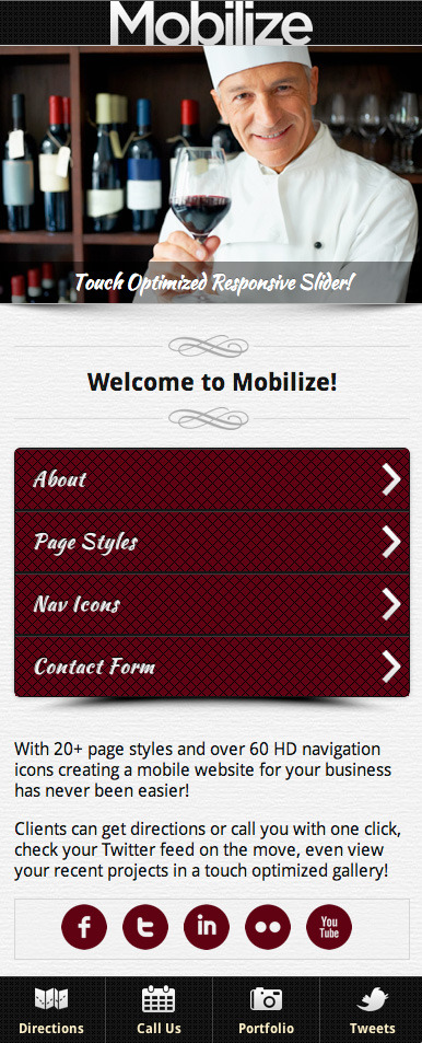 Mobilize - Touch Optimized Mobile Template - 