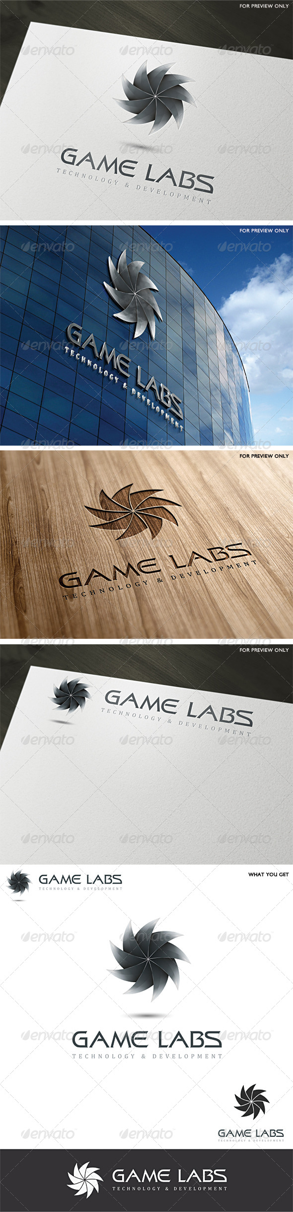 GraphicRiver 3D Game Labs Logo Template v3 4601103