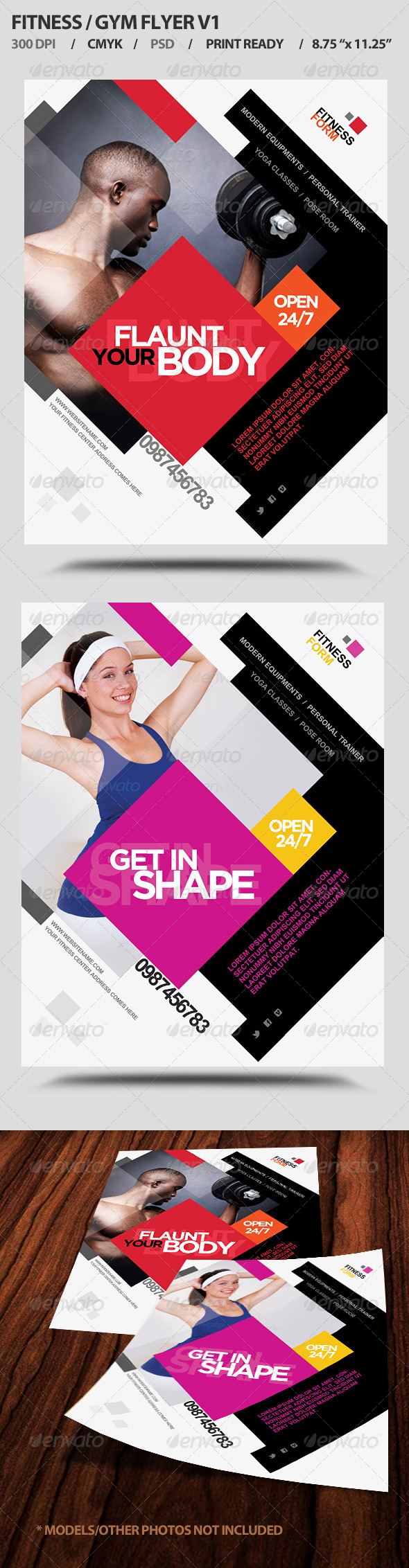 GraphicRiver Fitness Gym Business Promotion Flyer V1 4524141