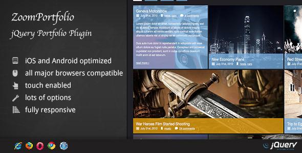 CodeCanyon ZoomFolio jQuery Portfolio Plugin 4601603