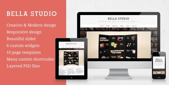 Bella Studio - Creative Portfolio Wordpress Theme