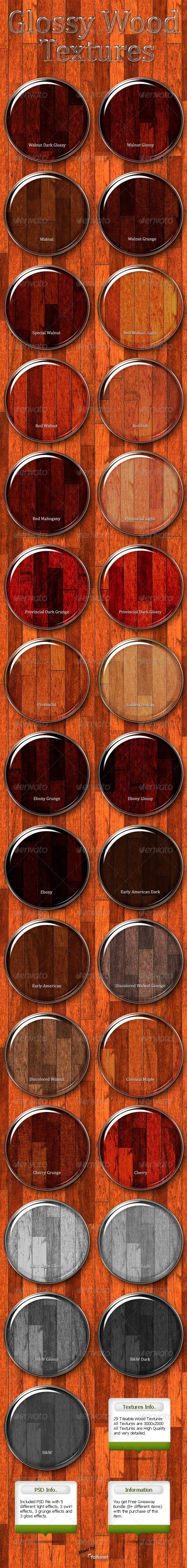 GraphicRiver Glossy Wood Textures 473410