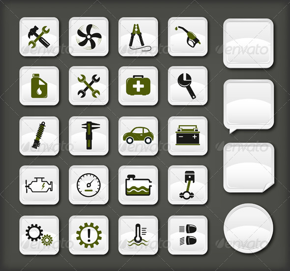 GraphicRiver Car Service Icons 4602124