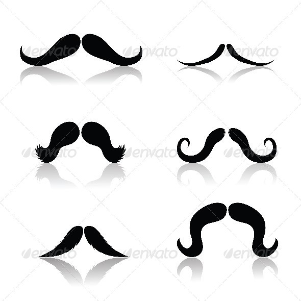 GraphicRiver Set of Mustaches 4602282