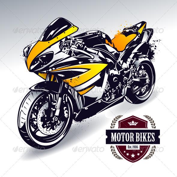 GraphicRiver Sport Motorbike 4602559
