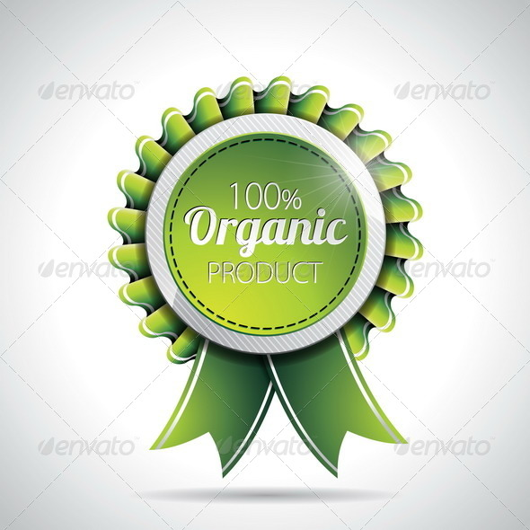 GraphicRiver Organic Product Labels Illustration 4602571