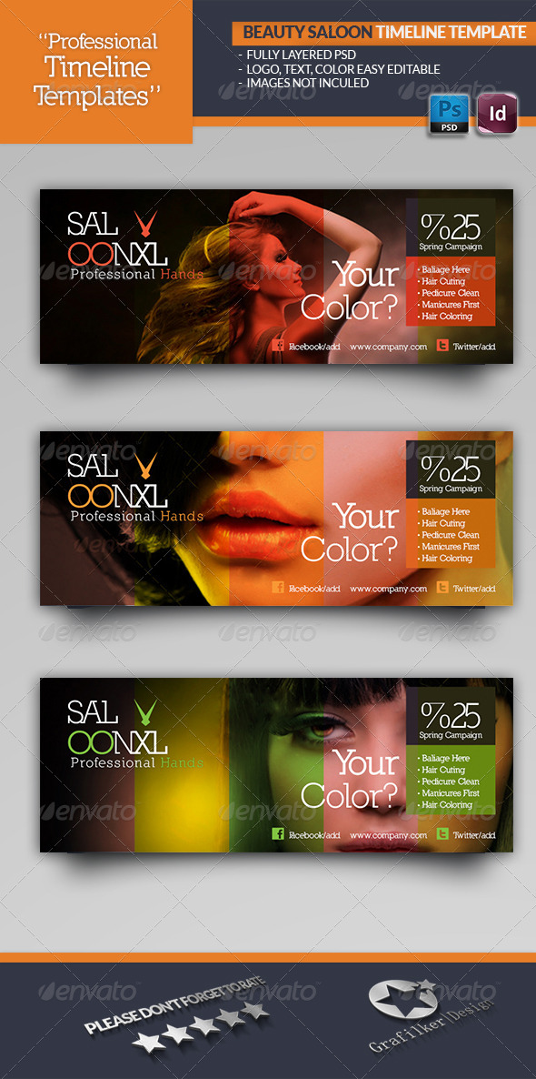 GraphicRiver Beauty Saloon Timeline Template 4583569