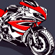 Red Sport Motorbike - GraphicRiver Item for Sale