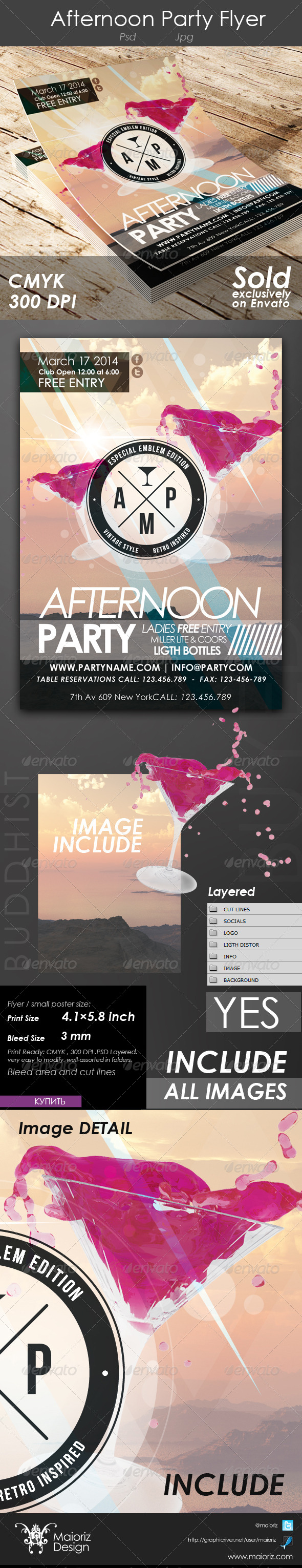 Afternoon Party Flyer - Clubs & Parties Events