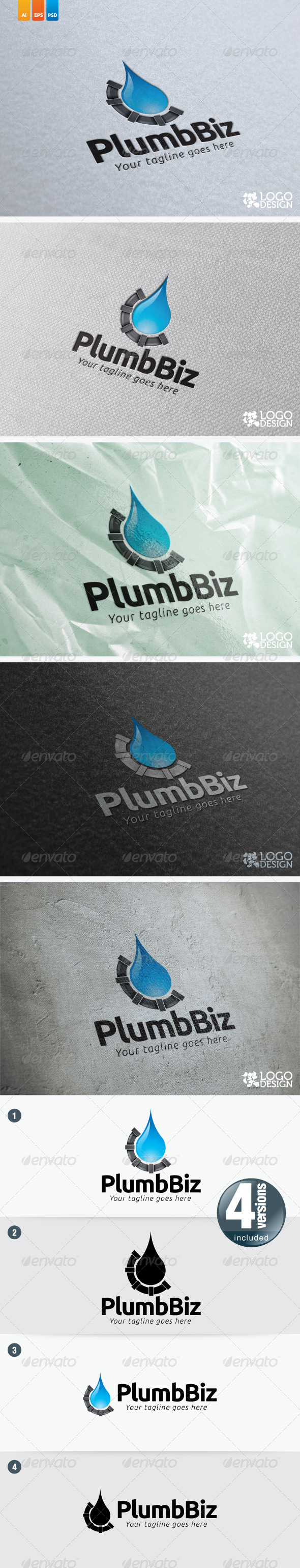 Plumbing Biz - Objects Logo Templates