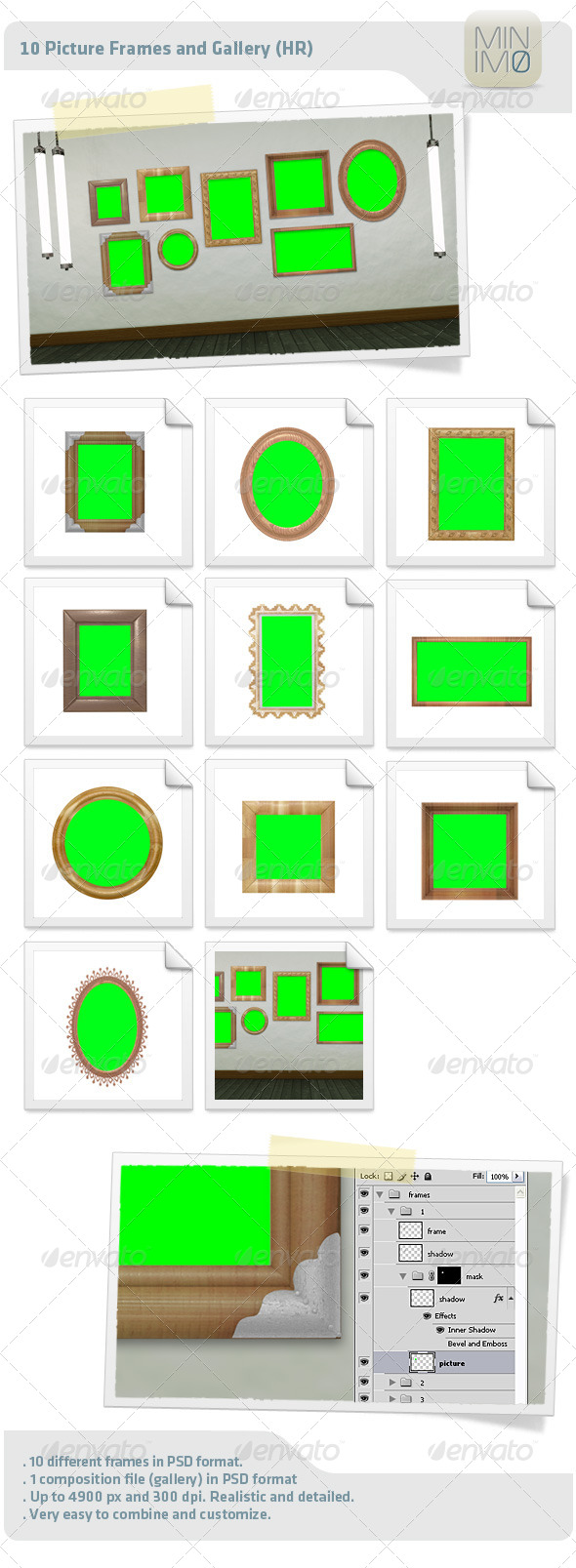 GraphicRiver 10 Picture Frames And Gallery HR 4603800