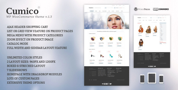 Cumico WP eCommerce theme - WooCommerce eCommerce