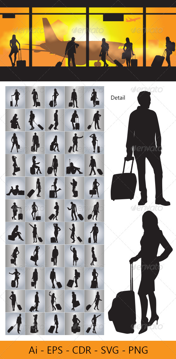 GraphicRiver People with Travel Bag 4603958