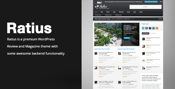 Ratius - Responsive Review Magazine Theme