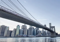New York. Beautiful Brooklyn Bridge view from East River at suns - PhotoDune Item for Sale