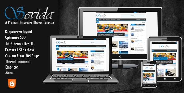 ThemeForest Sevida Responsive Magazine Blogger Template 4604301
