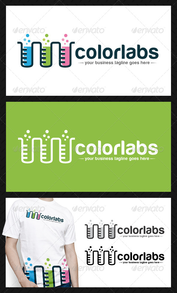 GraphicRiver Colorful Lab Logo Template 4604429