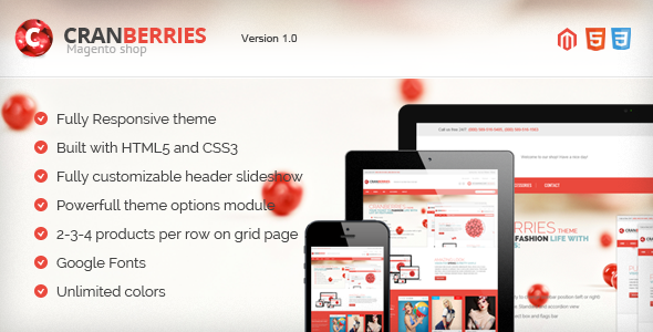 ThemeForest Cranberries Responsive & Retina Magento Theme 4604659