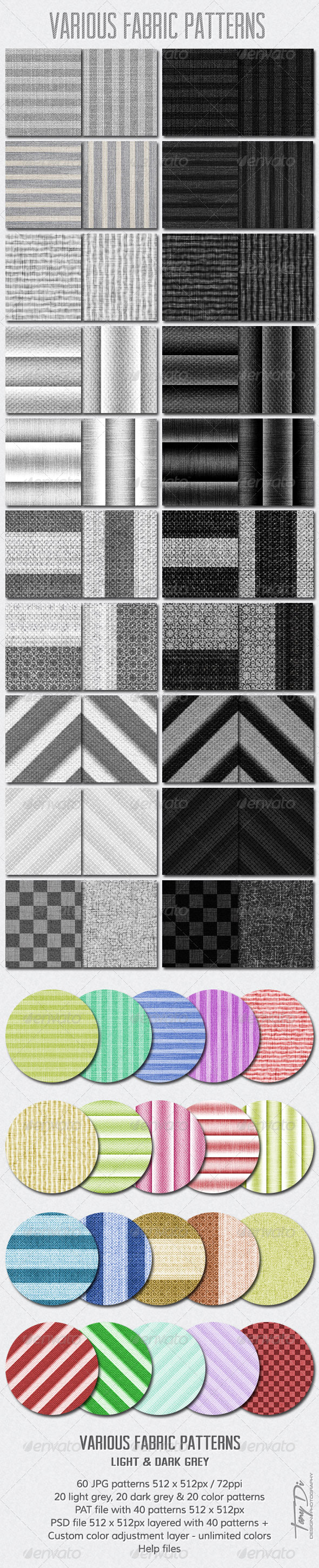 Various Fabric Patterns - Miscellaneous Textures / Fills / Patterns