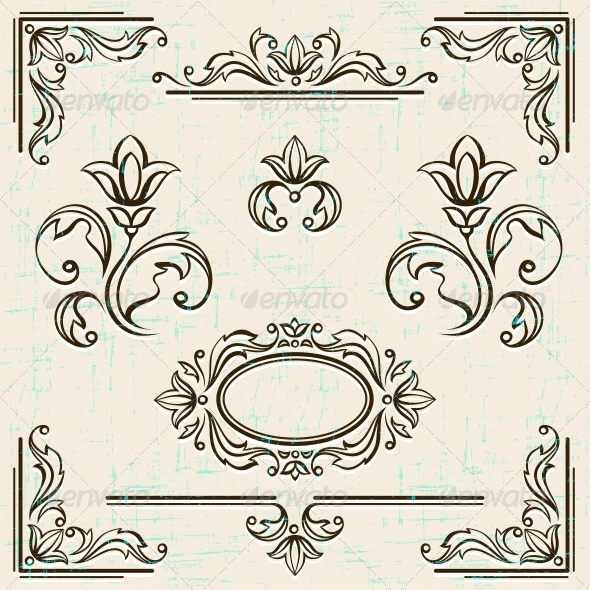 GraphicRiver Page Decoration Vintage Frames 4605227