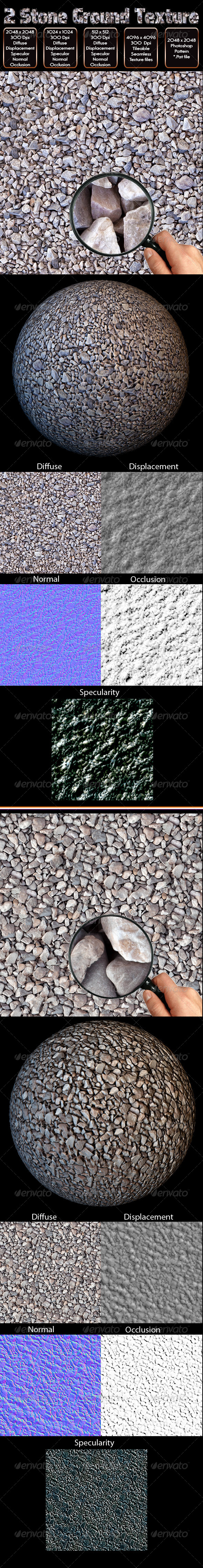 3DOcean 2 Stone Ground Texture 4605314
