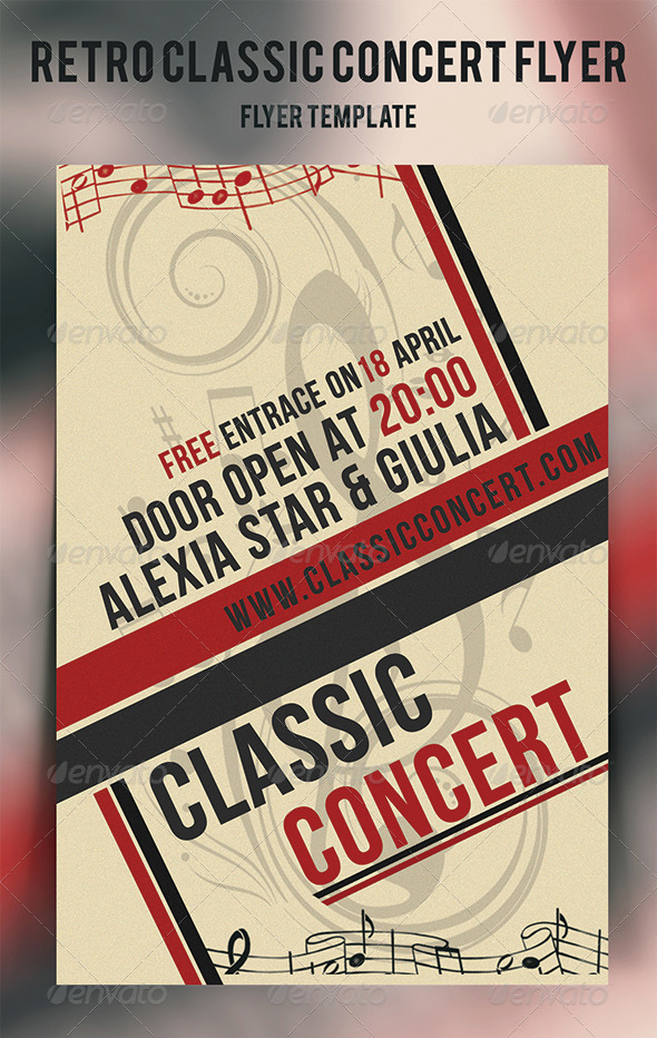 Retro Classic Concert Flyer - Concerts Events