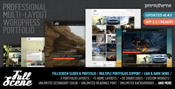 FullScene - Portfolio / Photography WP Theme - Portfolio Creative