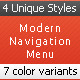 Modern Vertical Navigation - GraphicRiver Item for Sale