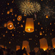 Yeepeng festival and fire work in chiangmai, Thailand - PhotoDune Item for Sale