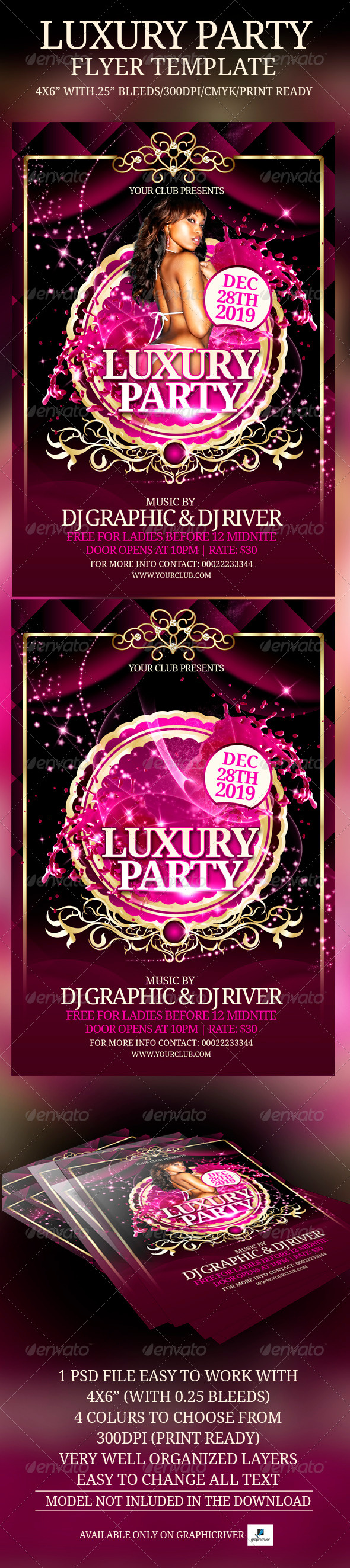 GraphicRiver Luxury Party Flyer Template 4607775