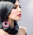 Beauty Woman With Long Black Hair. Hairstyle - PhotoDune Item for Sale