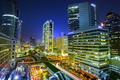 Bangkok city night view with main traffic - PhotoDune Item for Sale