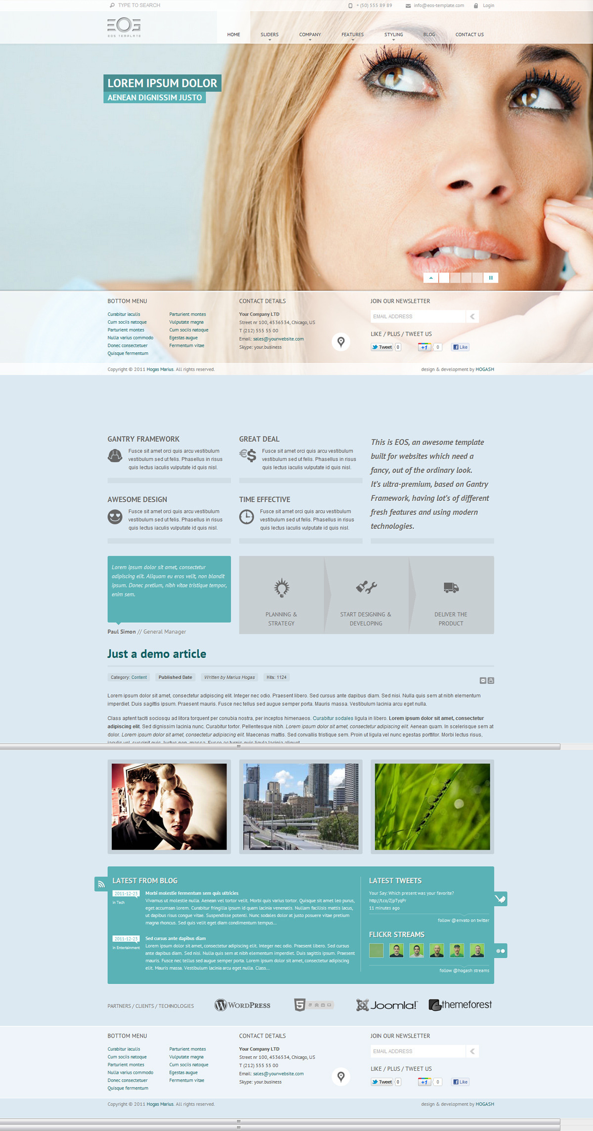 EOS - Template for Joomla - GENERAL PAGE - HOMEPAGE - SUPERSIZED