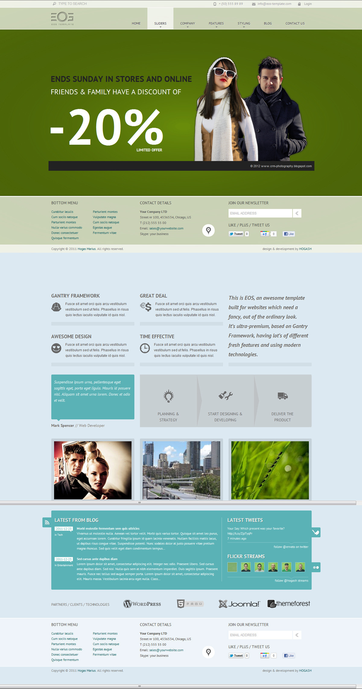EOS - Template for Joomla - GENERAL PAGE - HOMEPAGE - FANCY SLIDER