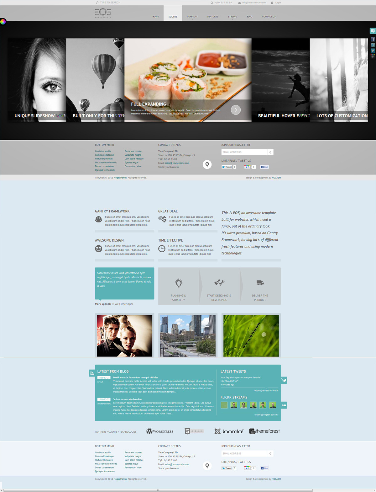 EOS - Template for Joomla - GENERAL PAGE - HOMEPAGE - FULL ACCORDION