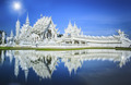 Magnificently grand white church and reflection in the water, Rong khun temple - PhotoDune Item for Sale