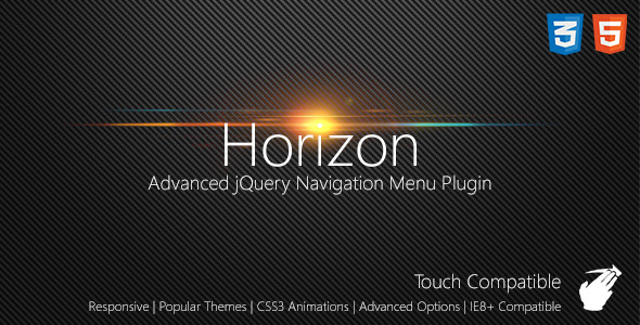 CodeCanyon Horizon Slide Navigation jQuery Plugin 4610671