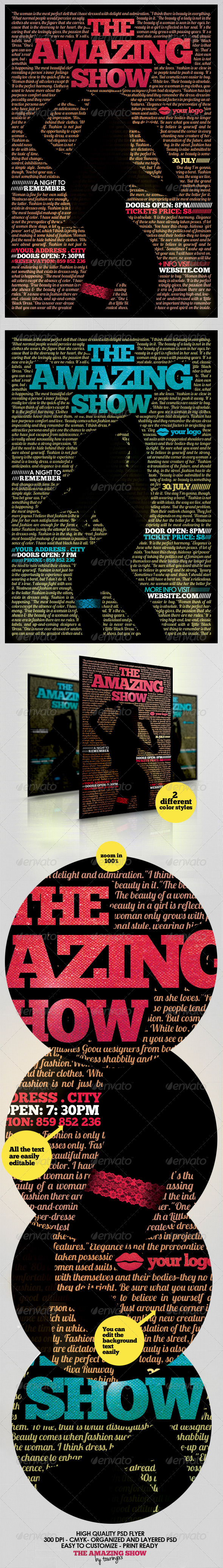 The Amazing Show Flyer Template - Flyers Print Templates