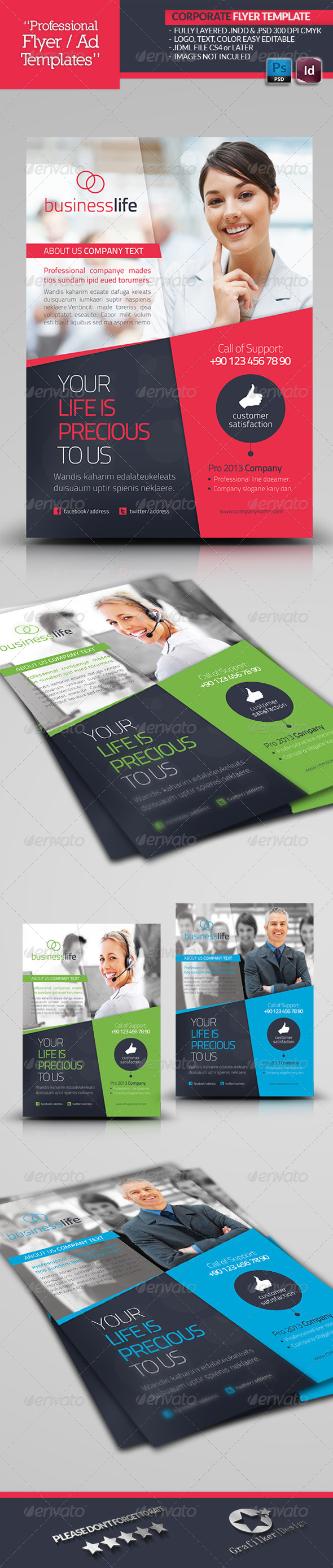 GraphicRiver Corporate Flyer Template 4537954