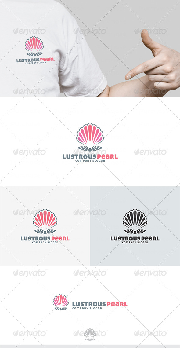 Lustrous Pearl Logo - Vector Abstract