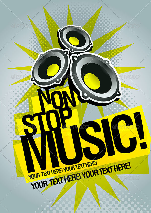 GraphicRiver Non-stop Party Poster Template 4611010