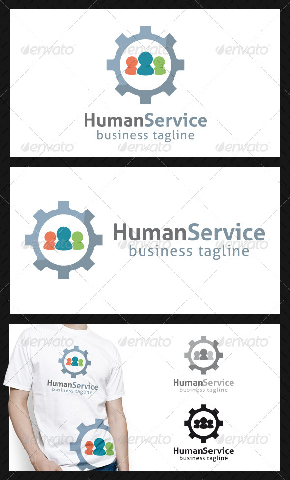 GraphicRiver Human Service Logo Template 4611126