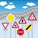 Traffic Signs Vector Illustration - GraphicRiver Item for Sale