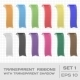 Transparent Ribbons Set 1. Tags, Bookmarks - GraphicRiver Item for Sale