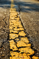 Asphalt road texture with yellow stripe - PhotoDune Item for Sale