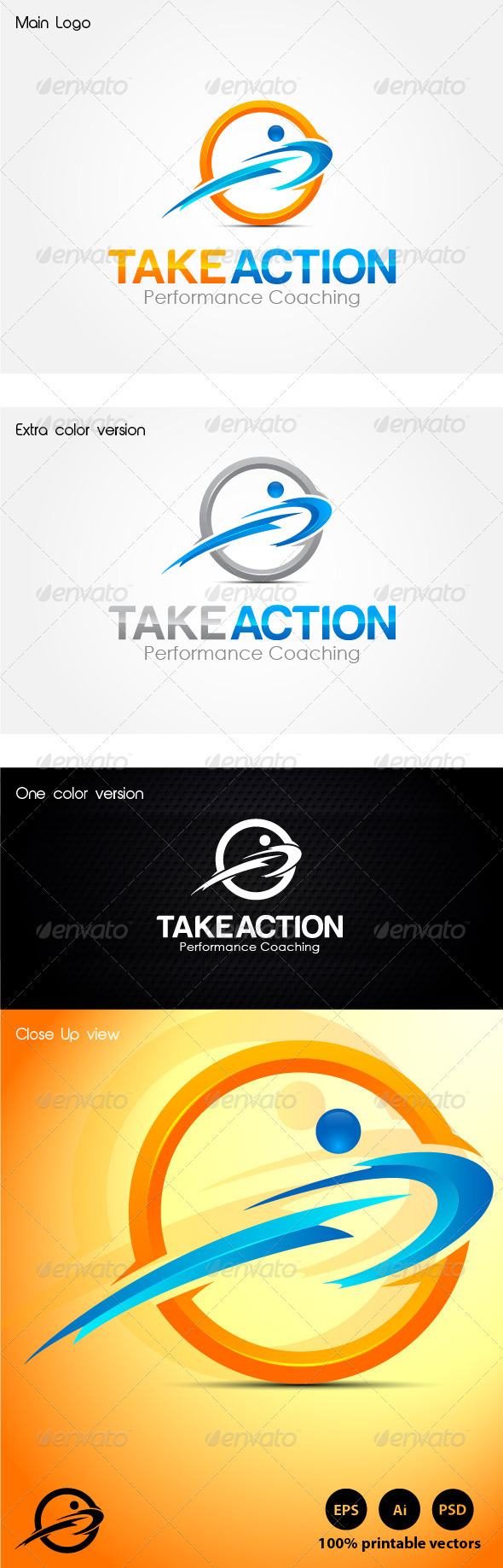 Take Action Coaching - Humans Logo Templates