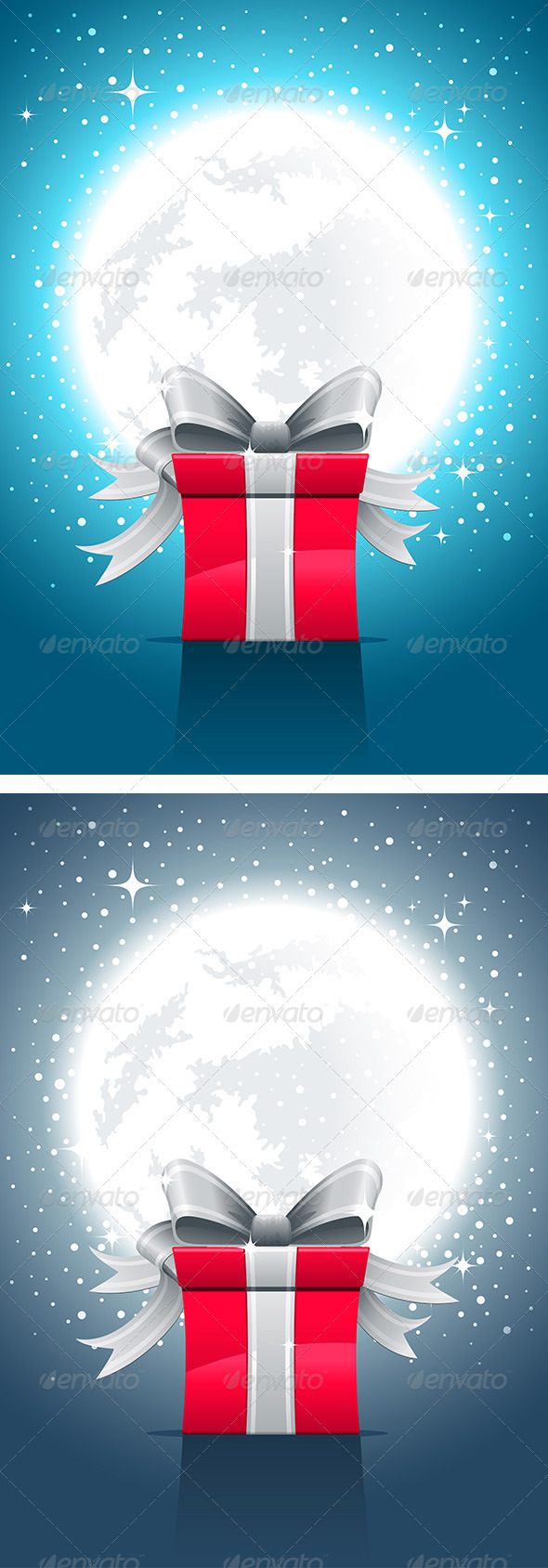 GraphicRiver Fullmoon Night And Gift Box 4611464