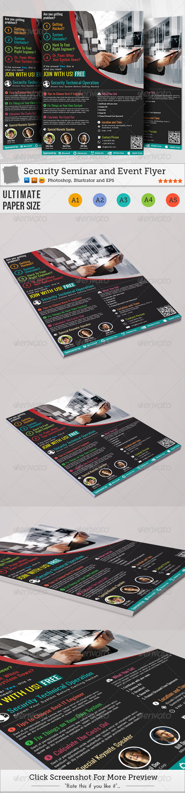 GraphicRiver Security Seminar and Event Flyer 4541469